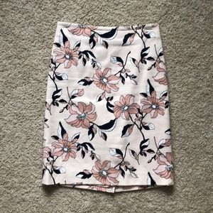 Ann Taylor Floral Pencil Skirt